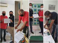 Candidatos a prefeito de Itapecuru assinam carta de compromisso, proposta pela DPE/MA e Semu, para ampliar rede de proteção à mulher