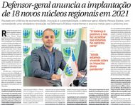 Defensor-geral anuncia a implantação de 18 novos núcleos regionais em 2021