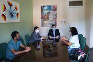 Defensoria Pública recebe representantes do Programa Pacto pela Paz e da comunidade da Cidade Olímpica