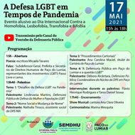 DPE/MA e Município de Paço do Lumiar promovem evento on-line para fortalecer defesa LGBT