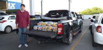 Defensoria estadual doa cestas básicas para Associação de Doenças Genéticas e Raras